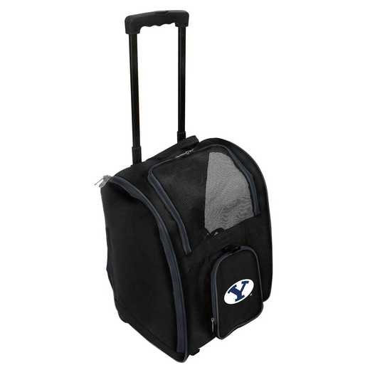 CLBYL902: NCAA Brigham Young Cougars Pet Carrier Premium bag W/wheels